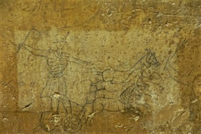 Charioteer and Horses-Ancient Mural