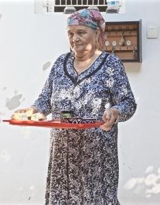 Gulnara Bringing Breakfast