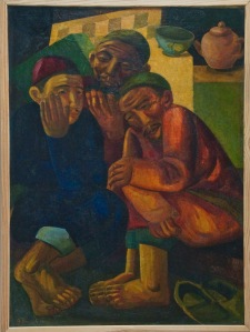 Volkov 1930 Three Male Figures (Conversation)