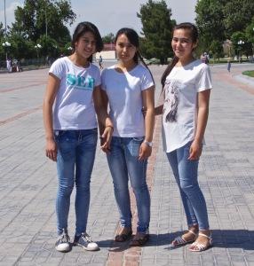 Uzbek Gilrs in Blue Jeans