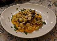 Orchette with Clams and Cream of Pumpkin
